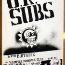 UK SUBS Texas '92 Cannibal Club POSTER U.K. punk OI!