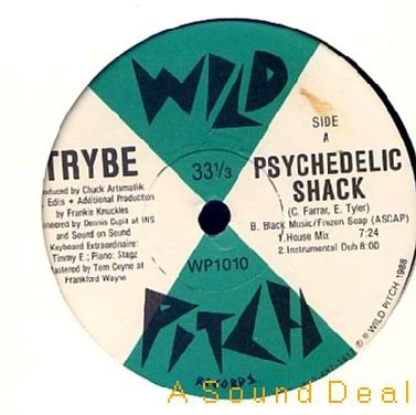 """TRYBE WILD PITCH'88 12"""" PSYCHEDELIC SHACK KNUCKLES"""