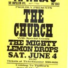 The CHURCH Mighty Lemon Drops '94 Gig Handbill Poster