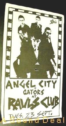 ANGELS ANGEL CITY TEXAS Raul's '80 Gig POSTER KBD Punk