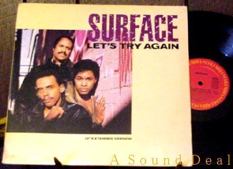"SURFACE ORIG '86 PS 12"" LET'S TRY AGAIN DJ MODERN SOUL"