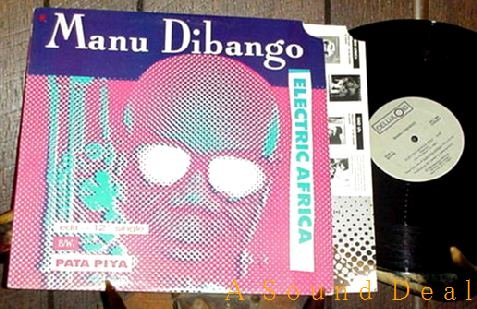 "MANU DIBANGO HTF'85 PS REMIX12"" ELECTRIC AFRICA ELECTRO"