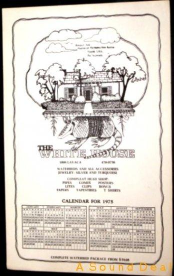 WHITE HOUSE '75 AUSTIN TEXAS ARMADILLO POSTER ASD