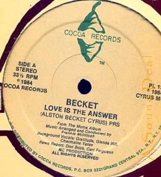 "BECKET DJ MIKEY JARRETT'86 COCOA 12"" LOVE IS THE ANSWER"