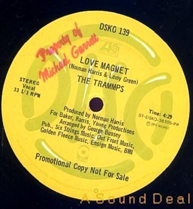 """TRAMMPS SOUL BONES LOVE MAGNET OG '78 DISCO DJ PRO 12"""""""