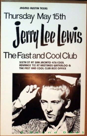 JERRY LEE LEWIS Texas '86 Fast & Cool Club Jagmo POSTER