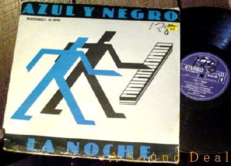 """AZUL Y NEGRO RARE SPANISH LA NOCHE '82 PS 12"""" THE NIGHT"""
