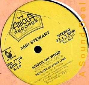 "AMII STEWART ORIGINAL '78 DISCO 12"" KNOCK ON WOOD PROMO"