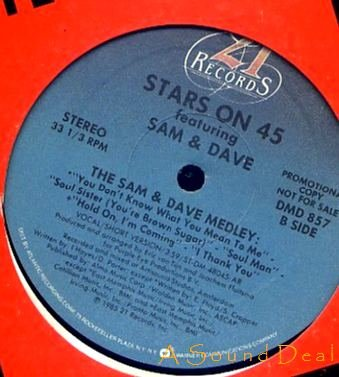 """STARS ON 45 OG'85 12"""" THE SAM & DAVE MEDLEY"""