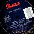 "BAD MANNERS MY GIRL LOLLIPOP HTF '82 REMIX 12"" SKA PUNK"