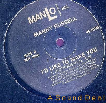 """MANNY RUSSELL MAKE YOU OBSCURE FUNKY HOUSE 12"""" HEAR"""