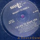 "MANNY RUSSELL MAKE YOU OBSCURE FUNKY HOUSE 12"" HEAR"