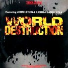 "TIME ZONE HTF OG '84 PS 12"" WORLD DESTRUCTION BAMBAATAA"