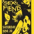 ALIEN SEX FIEND Texas '87 Concert HANDBILL Poster GOTH