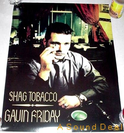 GAVIN FRIDAY SHAG TOBACCO '96 GLAM POSTER VIRGIN PRUNES