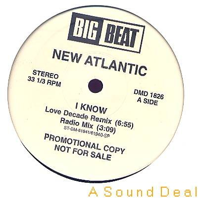 "NEW ATLANTIC I Know HTF Promo 12""Techno Flute ASD"