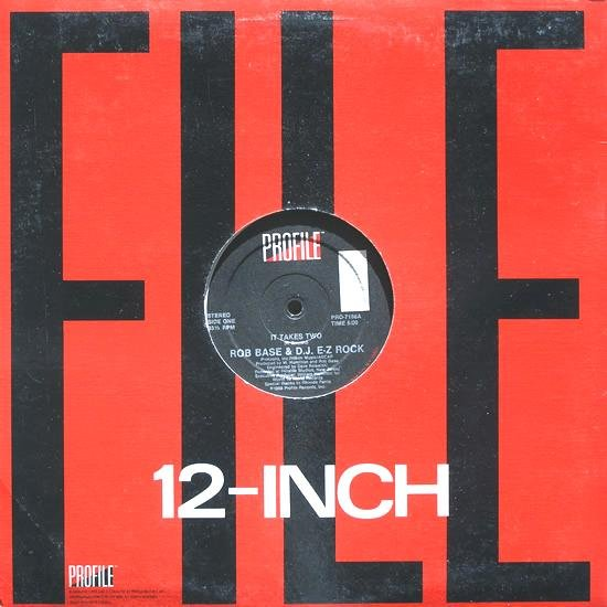 "ROB BASE & DJ E-Z ROCK ORIGINAL '88 US 12"" IT TAKES TWO"