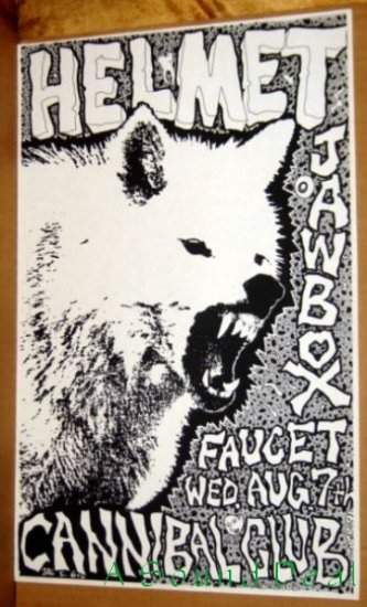 HELMET JAWBOX Texas '91 Cannibal Club POSTER Mather