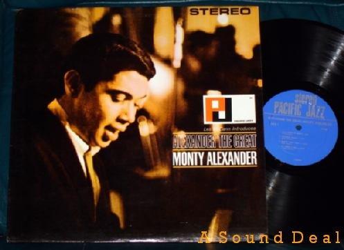 MONTY ALEXANDER the Great '65 Pacific Jazz LP OOP debut