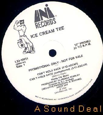 "ICE CREAM TEE JAZZY JAY Can't Hold Back 12"" DJ PROMO"