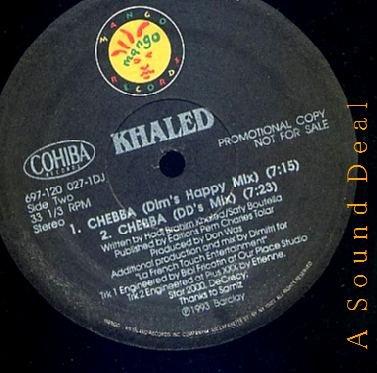 "KHALED HTF '93 RAI DJ MANGO 12"" CHEBBA REMIXES"