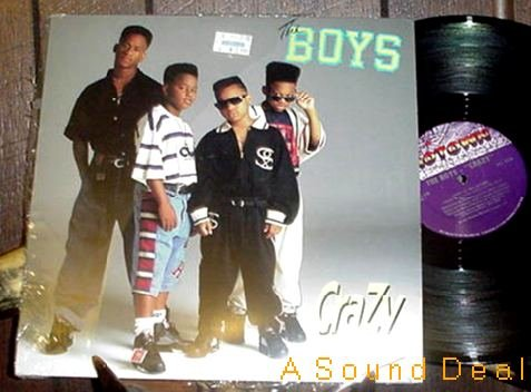 """THE BOYS HTF '90 CRAZY REMIX PICTURE SLEEVE 12"""" MOTOWN"""