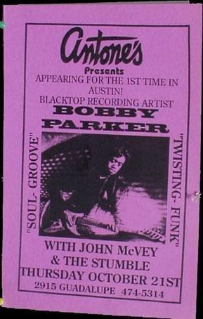 BOBBY PARKER Antone's Texas gig POSTER soul funk guitar