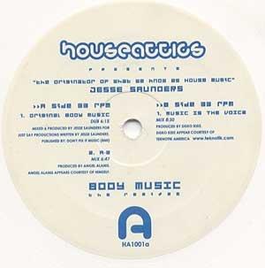 "JESSE SAUNDERS Body Music 12"" White Wax REMIXES"
