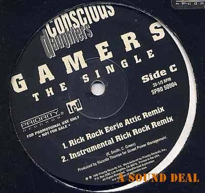 """CONSCIOUS DAUGHTERS DOUBLE 12"""" DJ PRO ONLY GAMERS RAP"""