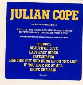 JULIAN COPE PEGGY SUICIDE DJ LP PSYCH TEARDROP EXPLODES