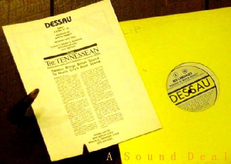 "DESSAU RARE RED LANGUAGES 12"" JOY DIVISION INDUSTRIAL"