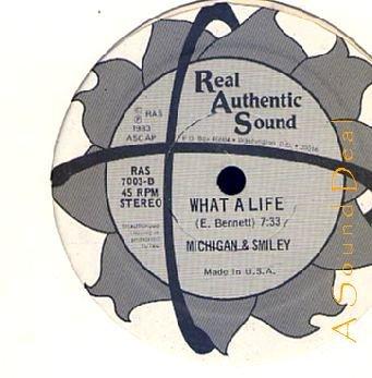 "MICHIGAN & SMILEY RAS '83 12"" SUGAR DADDY WHAT A LIFE"