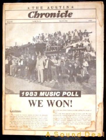 STEVIE RAY VAUGHAN '84 Austin Chronicle JOE ELY Rare!