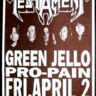 TESTAMENT Green Jello Concert Poster thrash ASD