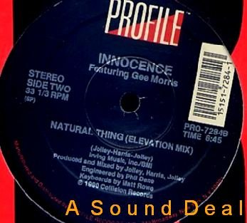 "INNOCENCE OG'90 REMIX 12"" NATURAL THING DOWNTEMPO CHILL"