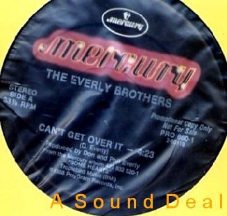 """EVERLY BROTHERS HTF DJ PROMO 12"""" CAN'T GET OVER IT"""