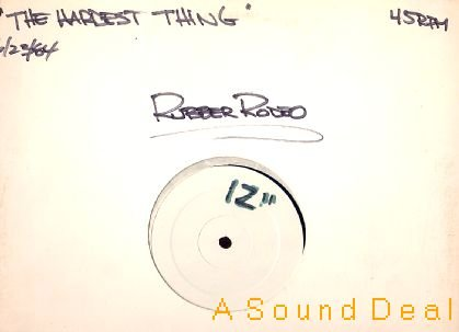 """RUBBER RODEO '84 12"""" HARDEST THING COWPUNK TEST PRESS!"""