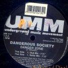 """DANGEROUS SOCIETY '95 Danger Zone 12"""" UMM ITALO"""
