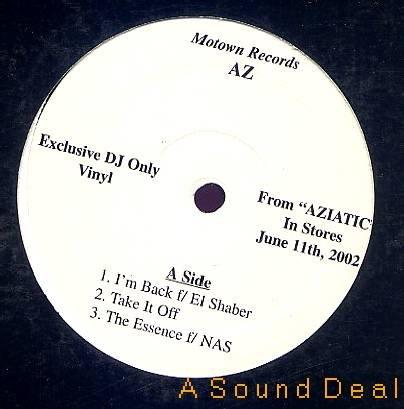 "AZ RARE AZIATIC SAMPLER 12""EP DJ PROMO ONLY GANGSTA WAX"