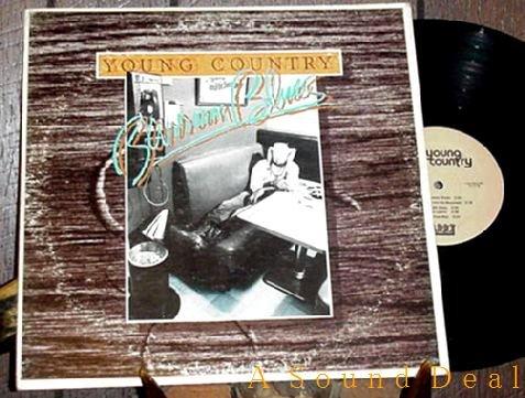 YOUNG COUNTRY RARE '78 AMERICANA LP BARROOM BLUES PRIVT