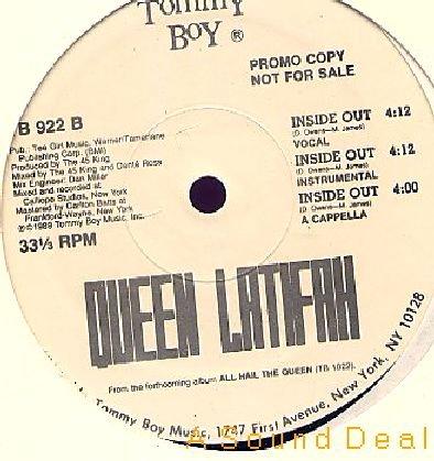 """QUEEN LATIFAH OG '89 DJ PRO TOMMY BOY 12"""" DANCE FOR ME"""