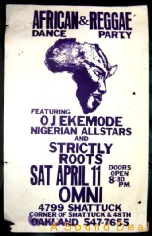 OJ EKEMODE NIGERIAN Africa Reggae POSTER '86 Roots