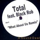 "TOTAL ft BLACK ROB SITTING HOME RARE WHITE LABEL 12"""