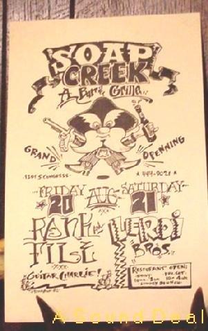 RANK & FILE Soap Creek Texas '82 Gig POSTER ASD