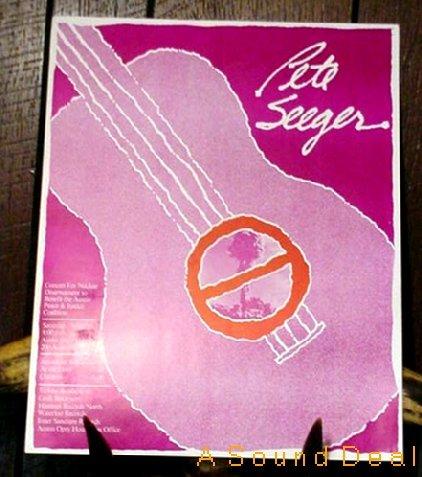PETE SEEGER Original '79 Austin Texas Opry POSTER Folk