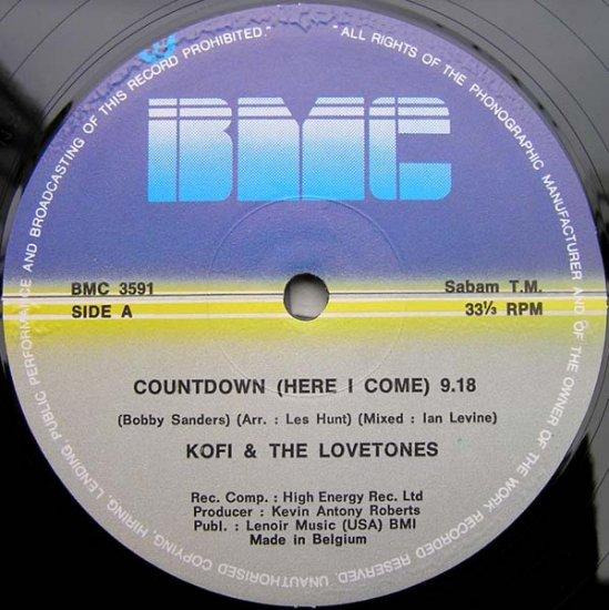 "KOFI &t LOVE TONES COUNTDOWN ORIGINAL 12"" HI NRG DISCO"