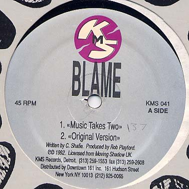 "BLAME RARE '92 US REMIXES 12"" MUSIC TAKES YOU SEAL"