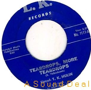 "TK HULIN Teardrops '62 LK 7""45 DEEP SOUL ASD HEAR"