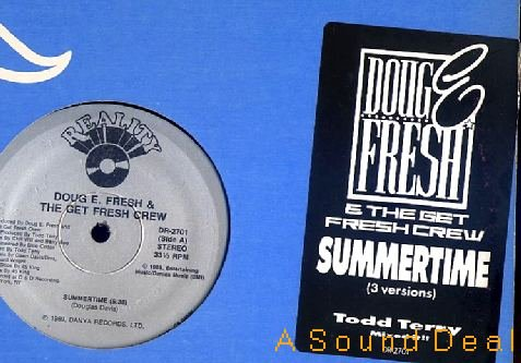 "DOUG E. FRESH & GET CREW SUMMERTIME 12"" ORIG '89 MINT!!"
