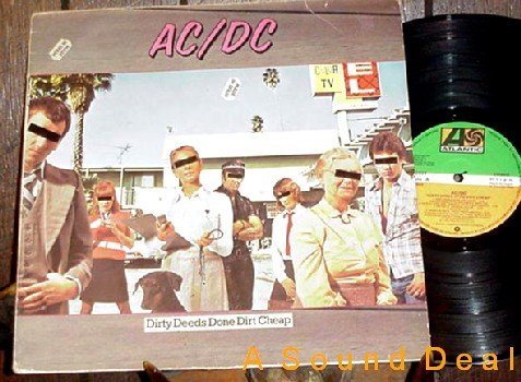 AC/DC RARE SPANISH OG'83 LP DIRTY DEEDS DONE DIRT CHEAP